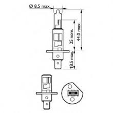 BEC FAR H1 55W 12V VP PHILIPS -SET 2 BUC-12258VPS2