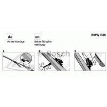 SET STERGATOARE BOSCH AEROTWIN RETROFIT VECTRA C 600/475 MM-3 397 118 909