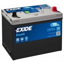 Acumulator auto Exide Excell EB704 12V 70AH 540Aen asia borna normala
