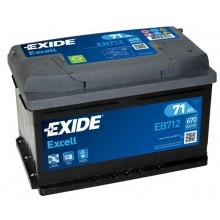 Acumulator auto Exide Excell EB712 12V 71AH 670Aen