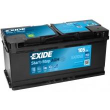 Acumulator auto Exide Start-Stop AGM EK1050 12V 105AH 950Aen