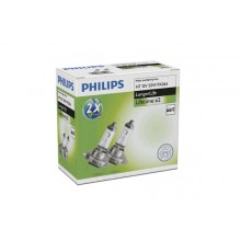 SET 2 BECURI FAR H7 55W 12V LongerLife PHILIPS 12972ELC2