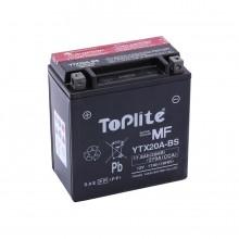 Baterie moto Toplite Yuasa 12V 17AH YTX20A-BS, YTX20CH-BS