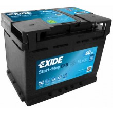 Baterii auto Exide Start-Stop EFB EL600 12V 60AH 640Aen