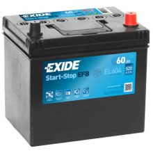 Baterii auto Exide Start-Stop EFB EL604 12V 60AH 520Aen asia borna normala