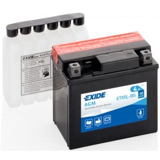 Baterie moto Exide AGM 12V 4AH ETX5L-BS, YTX5L-BS, YTX5L-4