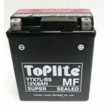 Baterie moto Toplite Yuasa 12V 6AH YTX7L-BS