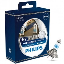 Set 2 becuri auto far halogen Philips H7 RacingVision, +150%, 12V, 55W