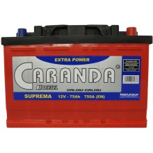Baterii auto Caranda Suprema 12V 75Ah 750Aen