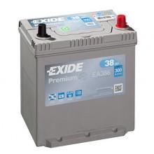 Baterii auto Exide Premium EA386 12V 38AH 300Aen asia borna normala
