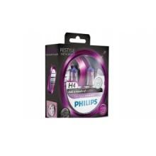 Set doua becuri Philips H4 ColorVision purpuriu 12V 60/55 W 12342CVPPS2
