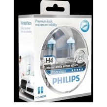 Set doua becuri Philips H4 WhiteVision 12V 60/55W 12342WHVSM