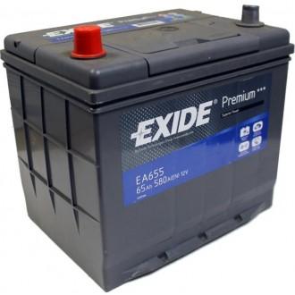 Baterii auto Exide Premium EA655 12V 65AH 580Aen asia borna inversa