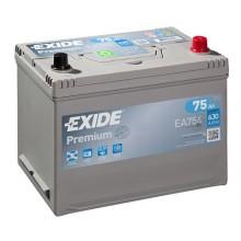 Acumulator auto Exide Premium EA754 12V 75AH 630Aen asia borna normala