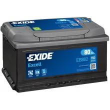Acumulator auto Exide Excell EB802 12V 80AH 700Aen