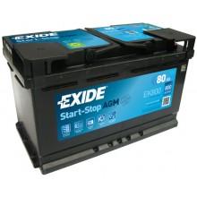 Acumulator auto Exide Start-Stop AGM EK800 12V 80AH 800Aen