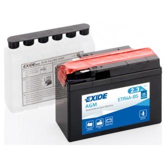 Baterie moto Exide AGM 12V 2.3AH ETR4A-BS YTR4A-BS YTR4A-4 GTR4A-BS 503903004