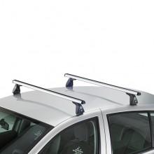 Set 2 bare transversale aluminiu Cruz - OPEL Calibra Coupe 2 usi 1990-1997, cu puncte fixe de prindere, cu bare Airo X