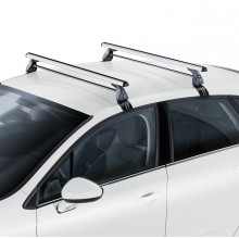 Set 2 bare transversale otel Cruz - FORD Focus Wagon (II) 2005-2007, cu profil T, cu bare Optima