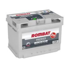 Baterii auto Rombat Premier 12V 60AH 580Aen 3 ani garantie