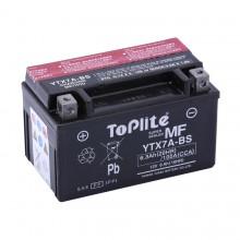 Baterie moto Toplite Yuasa 12V 6AH YTX7A-BS, YTX7A-4, 506015005