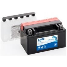 Baterie moto Exide AGM 12V 6AH ETX7A-BS, YTX7A-BS, YTX7A-4