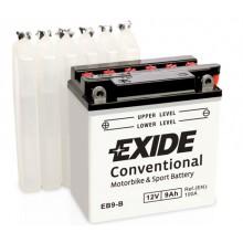 Baterie moto Exide Conventional 12V 9AH EB9-B, 12N9-4B-1, YB9-B