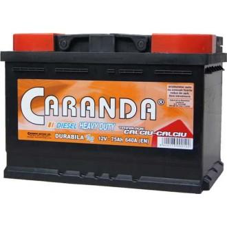 Baterii auto Caranda Durabila Top 12V 75AH 640Aen borna inversa