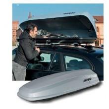 Cutie portbagaj Farad Torpedo N9 400 litri gri deschidere dubla