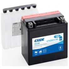 Baterie moto Exide AGM 12V 18AH 230Aen ETX20CH-BS, YTX20CH-BS
