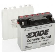 Baterie moto Exide Conventional 12V 20Ah 210Aen 12Y16A-3A, 51913