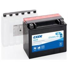 Baterie moto Exide AGM 12V 18AH YTX20HL-BS, ETX20HL-BS