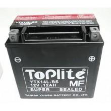Baterie moto Toplite Yuasa YTX14L-BS 12V 12AH