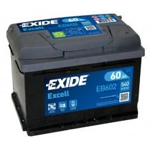 Baterii auto Exide Excell EB602 12V 60AH 540Aen