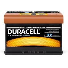Baterii auto Duracell Extreme AGM 12V 70AH 720Aen DE 70 AGM