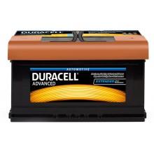 Baterii auto Duracell Advanced 12V 80AH 700Aen DA 80