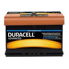 Baterii auto Duracell Advanced 12V 72AH 670Aen DA 72