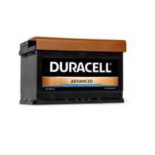 Baterii auto Duracell Advanced 12V 74Ah 680Aen DA74