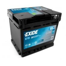 Baterii auto Exide EL550 Start Stop EFB 12V 55Ah 540Aen