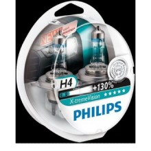 Set doua becuri Philips H4 XtremeVision +130% 12V 60/55W 12342XV+S2