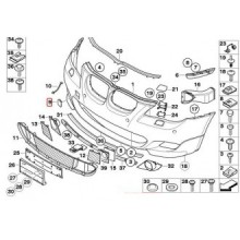 Capac carlig tractare pentru bara fata model M BMW E60 51117897210