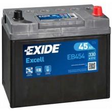 Acumulator auto Exide Excell EB454 12V 45AH 330Aen asia borna normala